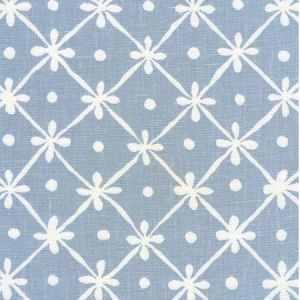 9955W-23 GATE HOUSE REVERSE ONE COLOR Windsor Blue On Oyster Quadrille Fabric
