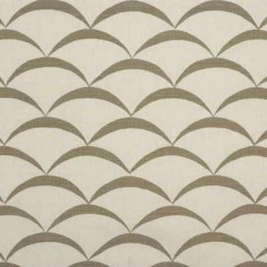 GWF-2618-111 CRESCENT White Taupe Groundworks Fabric