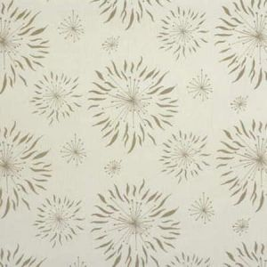 GWF-2619-111 DANDELION White Taupe Groundworks Fabric