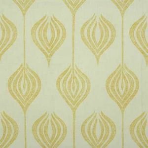 GWF-2622-140 TULIP White Yellow Groundworks Fabric