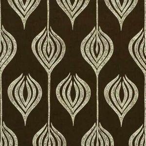 GWF-2622-68 TULIP Chocolate Cream Groundworks Fabric
