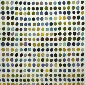 GWF-2735-503 TWISTER PRINT Blue Leaf Groundworks Fabric
