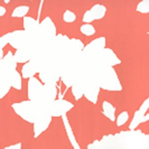 306183W HAPPY GARDEN BACKGROUND Rust Orange On White Quadrille Wallpaper