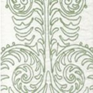 HC1230W-10 GYPSY DANCE Celadon on Off White Quadrille Fabric