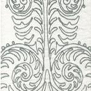 HC1230WW GYPSY DANCE Vapor on White Quadrille Fabric