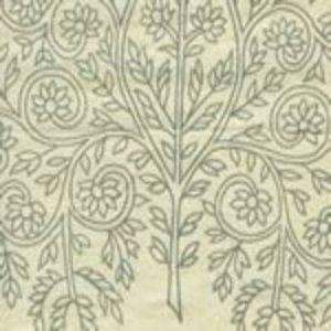 HC1480C-01 TAJ Vapor on Cream Linen Quadrille Fabric