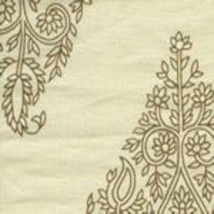 HC1480C-02 TAJ Tobacco on Cream Linen Quadrille Fabric