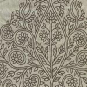 HC1480F-04 TAJ Brown on Flax Linen Quadrille Fabric