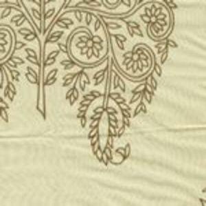 HC1480S-02 TAJ Tobacco on Silk Taffeta Quadrille Fabric