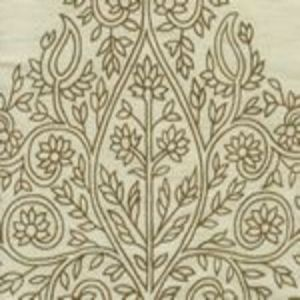 HC1480TUS-02 TAJ Tobacco on Silk Tussah Quadrille Fabric