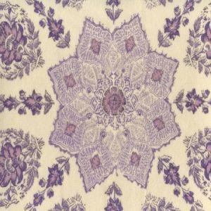 HC1490VV-10 PERSEPOLIS On Venetian Velvet Purple Lilac on Cream Quadrille Fabric