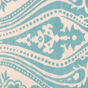 HC1880C-03 INDOCHINE PAISLEY China Blue on Cream Quadrille Fabric