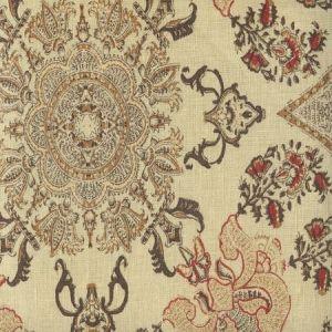 HC1980C-03 ISFAHAN Multi Browns Camel on Cream Quadrille Fabric