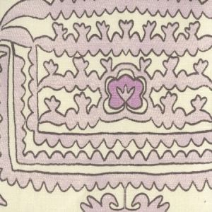 HC1990-03 CLEMENTINE Lilac Purple Brown on Tint Quadrille Fabric