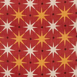 HN 0003 42023 STAR POWER Red Scalamandre Fabric