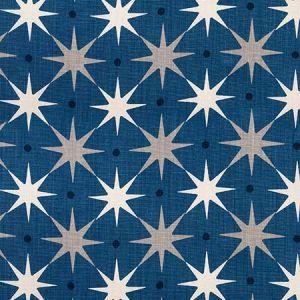 HN 0004 42023 STAR POWER Navy Scalamandre Fabric