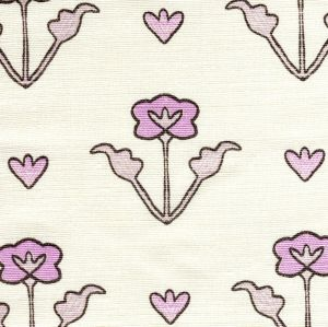 HC1995-03 CLEMENTINE ALL OVER Lilac Purple Brown on Tint Quadrille Fabric