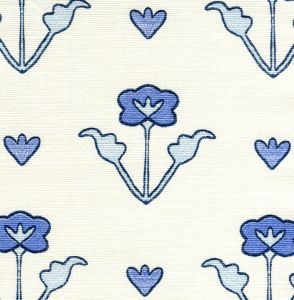HC1995-04 CLEMENTINE ALL OVER Windsor Royal New Navy on Tint Quadrille Fabric