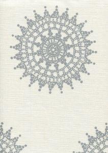 HC1330-10SM JEANNE MEDALLION Silver Metallic Quadrille Fabric