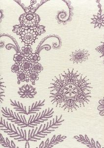 HC1302P JEANNE PANEL Purple Quadrille Fabric