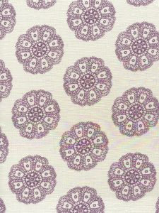 HC1320-02 JEANNE PETITE FLEUR Purple  Quadrille Fabric