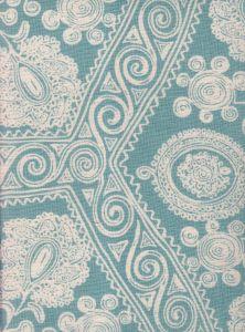 HC1910B-01 MELANIE BACKGROUND Celeste on Tint Quadrille Fabric