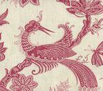 306206F PARADIS Burgundy on Tint Quadrille Fabric