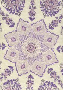 HC1490C-10 PERSEPOLIS Lilac Purple on Cream Quadrille Fabric