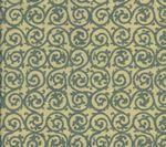 HC1340T-03 SCROLL Vapor on Tan Quadrille Fabric