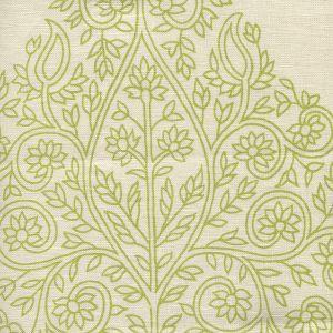 HC1480C-07 TAJ Fig on Cream Linen Quadrille Fabric