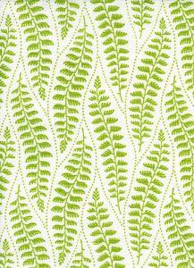 HC1860-02 WOODLAND Fern Green on Tint Quadrille Fabric