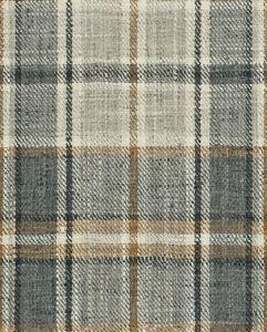 EDGEVALE PLAID Charcoal Fabricut Fabric