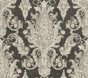 MILLARD PAISLEY Peppercorn Fabricut Fabric