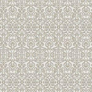 ION DAMASK Moonlight Fabricut Fabric