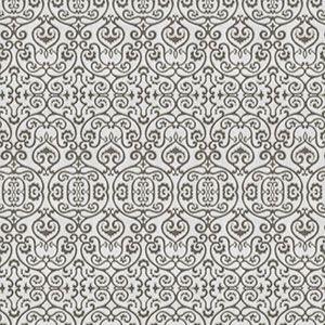 ION DAMASK Charcoal Fabricut Fabric
