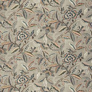 BEAMAN FLORAL Coral Stone Fabricut Fabric