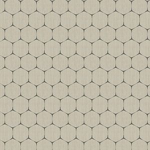 MOLECULAR GEO Graphite Fabricut Fabric