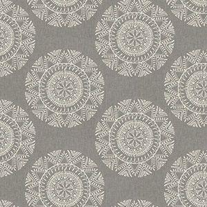 MONOMER MEDALLION Pewter Fabricut Fabric