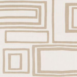 178221 LARGE OPEN BOXES Natural Schumacher Fabric