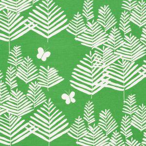 178230 FERN SILHOUETTE Green Schumacher Fabric