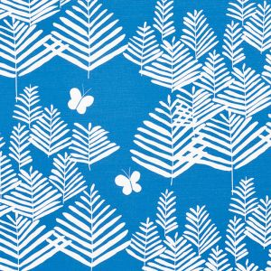 178232 FERN SILHOUETTE Blue Schumacher Fabric