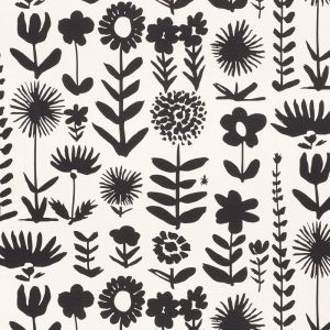 178250 WILD THINGS Black Schumacher Fabric