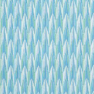 75910 VERDANT Aqua Leaf Schumacher Fabric
