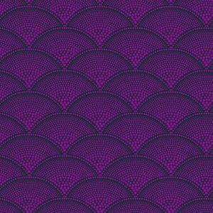 F111/8030-CS FEATHER FAN Magenta Cole & Son Fabric