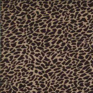 LEOPARD Black Norbar Fabric