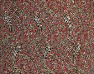 SB 00011908 PUNJAB Red Old World Weavers Fabric