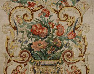 16136M-001 BAROQUE FLORAL CANVAS Multicolor Scalamandre Fabric