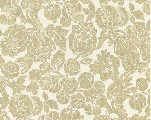 16606-001 ELSA LINEN PRINT Burnished Gold Scalamandre Fabric