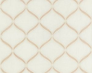 27074-001 RONDURE EMBROIDERY Bisque Scalamandre Fabric