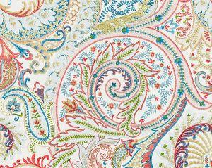 27124-001 MALABAR PAISLEY EMBROIDERY Bloom Scalamandre Fabric
